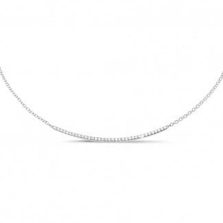 钻石项链 - 0.30克拉白金钻石项链