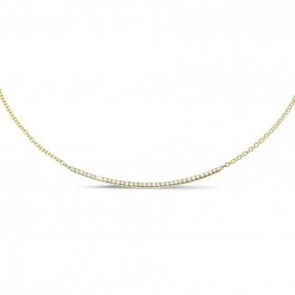 钻石项链 - 0.30克拉黄金钻石项链