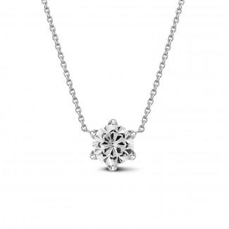 钻石项链 - BAUNAT Iconic 系列 1.00克拉白金圆钻吊坠项链