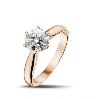 - 1.25克拉玫瑰金单钻戒指