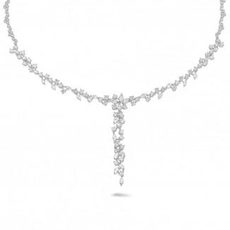 钻石项链 - 7.00克拉铂金钻石项链