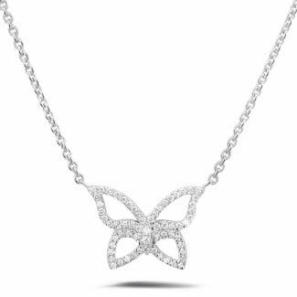 Monarca - 设计系列0.30克拉钻石白金项链