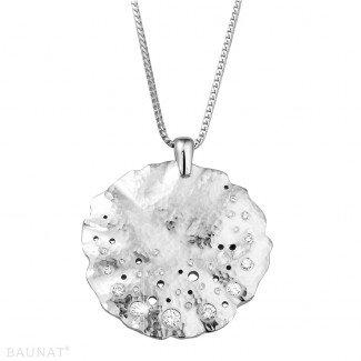 白金钻石项链 - 设计系列0.46克拉白金钻石吊坠
