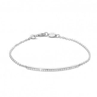 金手链 - 0.25克拉白金钻石手链