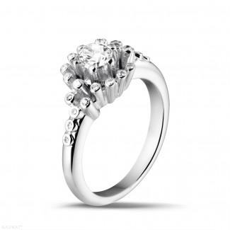 白金 - 设计系列0.50克拉白金钻石戒指