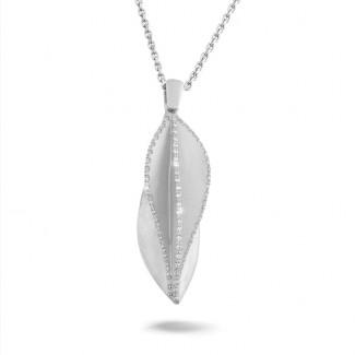 白金 - 设计系列0.40克拉白金钻石项链