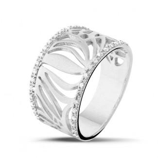 白金 - 设计系列0.17克拉白金钻石戒指