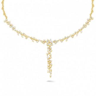 钻石项链 - 7.00克拉黄金钻石项链
