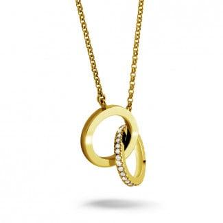 钻石项链 -  设计系列0.20克拉黄金钻石无限项链
