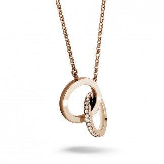 玫瑰金钻石项链 -  设计系列0.20克拉玫瑰金钻石无限项链