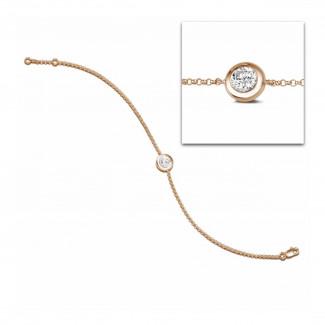 钻石手链 - 0.70克拉玫瑰金钻石手链
