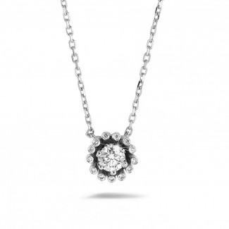 Ouverture - 设计系列 0.50克拉白金钻石吊坠项链