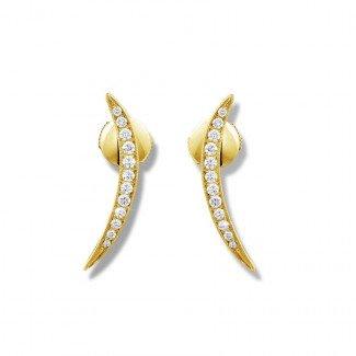 黄金 - 设计系列0.36克拉黄金钻石耳环