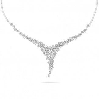 钻石项链 - 5.90克拉白金钻石项链