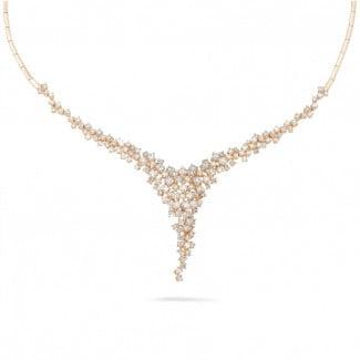 钻石项链 - 5.90克拉玫瑰金钻石项链