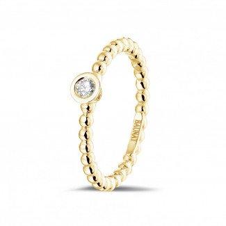 0.07克拉可叠戴钻石串珠黄金戒指