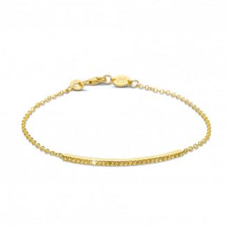 钻石手链 - 0.25克拉黄金黄钻手链
