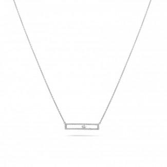 白金钻石项链 - 0.30克拉白金滑钻项链