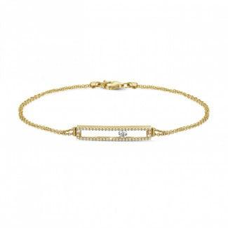 钻石手链 - 0.30克拉黄金滑钻手链