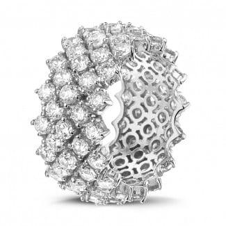 - 白金钻石编织纹戒指