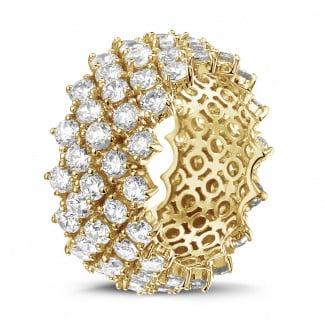 - 黄金钻石编织纹戒指