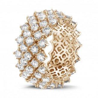 - 玫瑰金钻石编织纹戒指