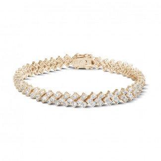 - 9.50 克拉玫瑰金钻石编织纹手链