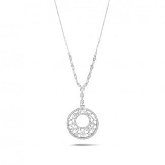 白金钻石项链 - 8.00 克拉白金花式切工钻石项链