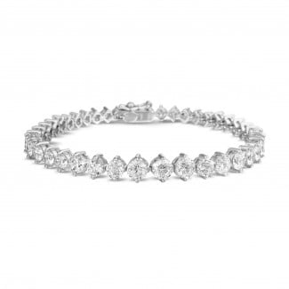 钻石手链 - 7.40 克拉白金钻石渐变手链