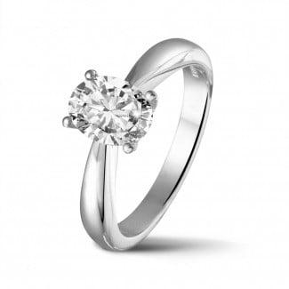 新品 - 1.20克拉白金椭圆形单钻戒指