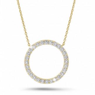 钻石项链 - 0.54克拉黄金永恒满钻项链