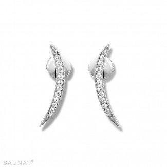 白金钻石耳环 - 设计系列0.36克拉白金钻石耳环