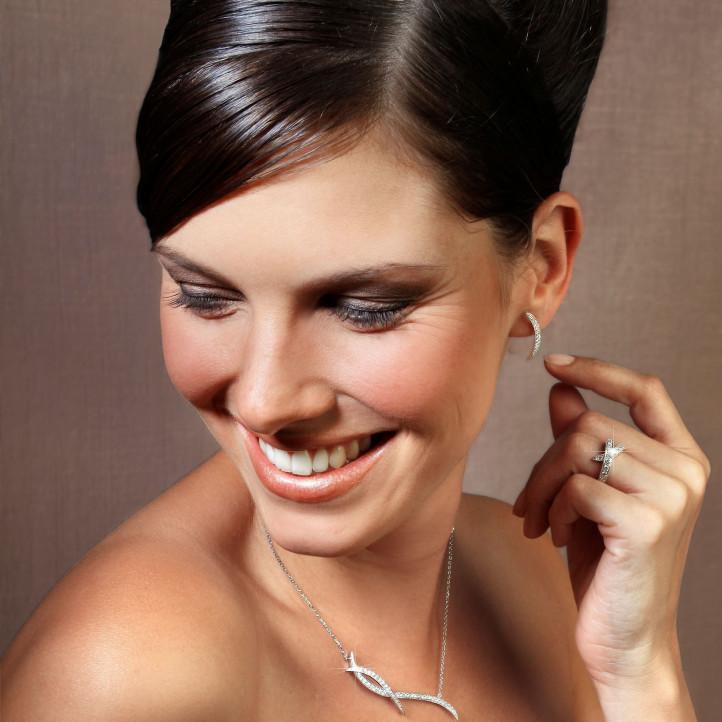 设计系列1.06克拉铂金钻石项链