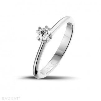 - 设计系列 0.25克拉八爪铂金钻石戒指