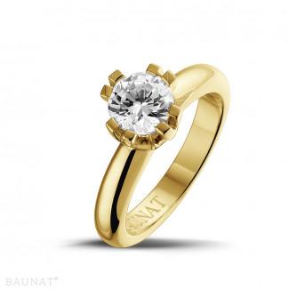 Jafo - 设计系列 1.25克拉八爪黄金钻石戒指