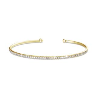 女士手链 - 0.75克拉黄金钻石手镯