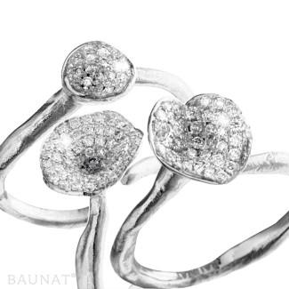 铂金 - 设计系列0.90克拉铂金钻石三环戒指