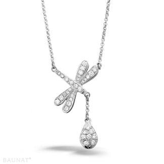 钻石项链 - 设计系列0.36克拉白金钻石蜻蜓项链