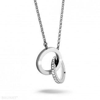 钻石项链 - 设计系列0.20克拉铂金钻石无限项链