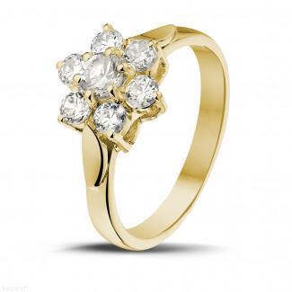 钻石求婚戒指 - 花之恋1.00克拉黄金钻石戒指