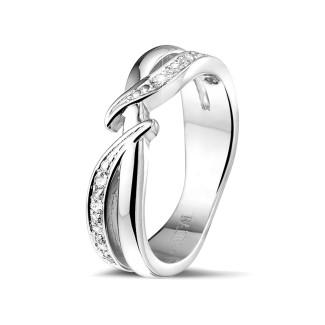 钻石戒指 - 0.11克拉白金钻石戒指